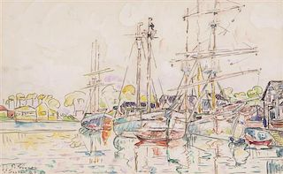 Paul Signac, (French, 1863-1935), Le Port de St. Servan