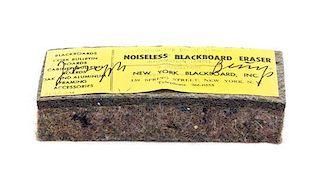 * Joseph Beuys, (German, 1921-1986), Noiseless Blackboard Eraser, 1974