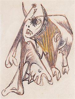 * Jackson Pollock, (American, 1912-1956), Number 62, c. 1939-40