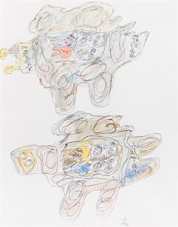 * Jean DuBuffet, (French, 1901-1985), DG4 Automobiles, 1961