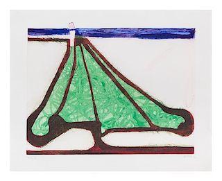 Richard Diebenkorn, (American, 1922-1993), Green Tree Spade, 1982