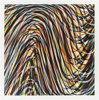 Sol LeWitt, (American, 1928-2007), Wavy Brushstrokes Superimposed #1