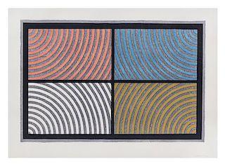 Sol LeWitt, (American, 1928-2007), Arcs From Four Corners, 1986