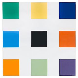 Ellsworth Kelly, (American, b. 1923), Nine Squares, 1977