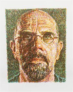 Chuck Close, (American, b. 1940), Self Portrait, 2007
