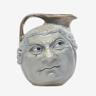 MARTIN BROTHERS Barrister double-sided face jug