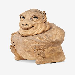 MARTIN BROTHERS Grotesque creature tobacco jar