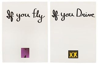 Chris Burden, (American, b. 1946), If You Fly, If You Drive, 1973 (diptych)