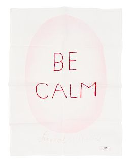 * Louise Bourgeois, (American/French, 1911-2010), Be Calm