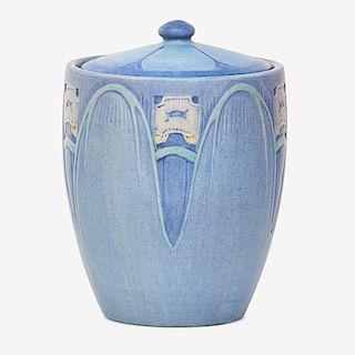 C. CHALARON; NEWCOMB COLLEGE Biscuit jar