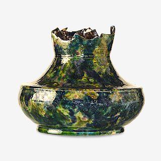 GEORGE OHR Fine squat vase