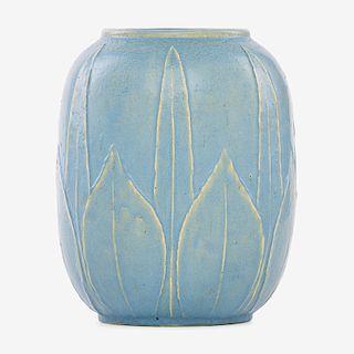 GRUEBY Rare pale blue vase