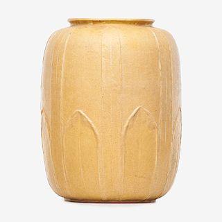 GRUEBY Large rare yellow vase