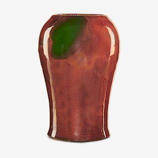 HUGH ROBERTSON; DEDHAM Fine oxblood vase