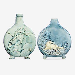 CHELSEA KERAMIC ART WORKS Two flask-shaped vases