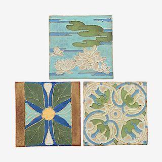 VAN BRIGGLE Three tiles