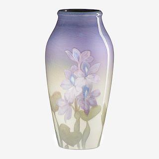 J. D. WAREHAM; ROOKWOOD Iris Glaze vase