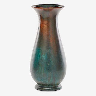 CLEWELL Large copper-clad vase