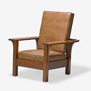 L. & J.G. STICKLEY Flat-arm Morris chair (no. 470)