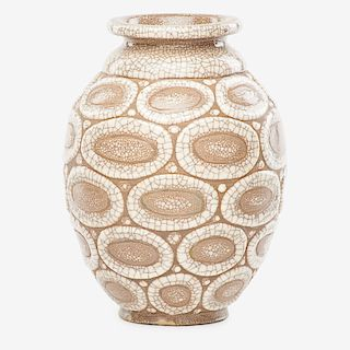 RENE BUTHAUD Peau-de-serpent (snakeskin) vase