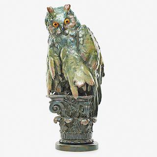RIESSNER, STELLMACHER & KESSEL Rare owl lamp