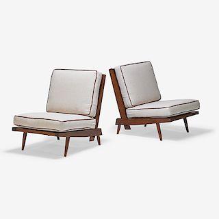 GEORGE NAKASHIMA Pair of Cushion Chairs