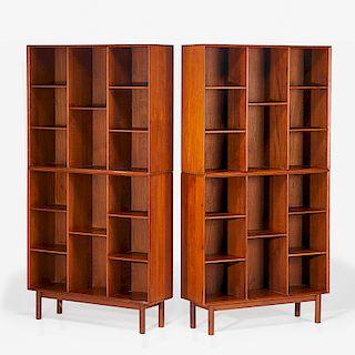 HVIDT; MOLGAARD-NIELSEN Modular bookcases
