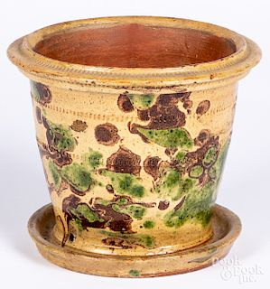 Shenandoah Valley redware flowerpot