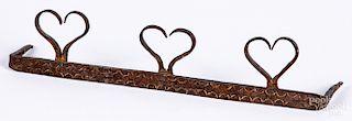Wrought iron utensil holder