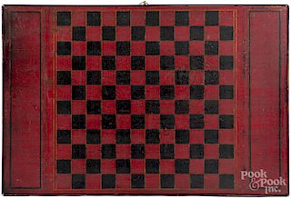 Red, black and yellow painted gameboard