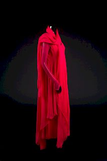 Dress, Shawl, Earrings, Ring and Bag, 1988. Dress designed by Paul Zastupnevitch and made by Western Costume Company in Los Angeles