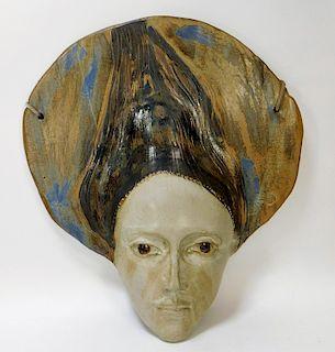 Marco Celotti Art Pottery Ceramic Face Sculpture