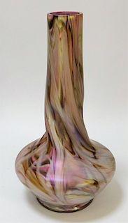 Rindskopf Twisted Bohemian Glass Vase