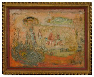 Jean Volang Abstracted Landscape Painting