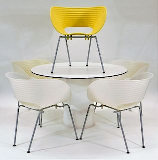 Tom Arad Table and Set of Five Tom Vac Chairs