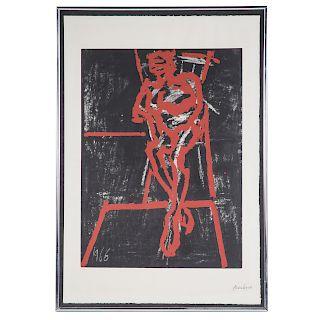Frank Auerbach. Seated Figure