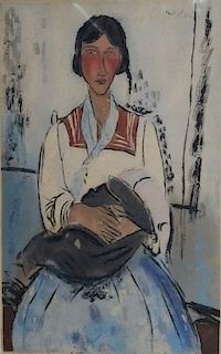 Jacques Villon L'Italienne after Amedeo Modigliani