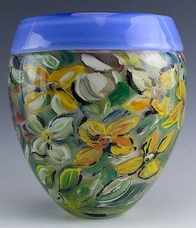 Stephanie Trenchard Studio Art Glass Monet Vase