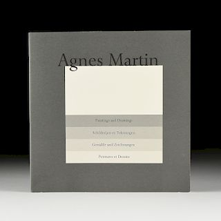"""AGNES MARTIN (Canadian/American 1912-2004) A PORTFOLIO BOOK WITH PRINTS, """"Paintings and Drawings 1974-1990, Suite of Ten,"""" AMSTERDAM, MARCH 22, 1991,"""