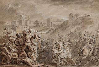French or Italian School, 17th/18th Century  The Rape of the Sabine Women