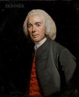 "School of Sir Joshua Reynolds (British, 1723-1792)  Portrait of a Gentleman, Described as ""Mr. Wilkinson"""