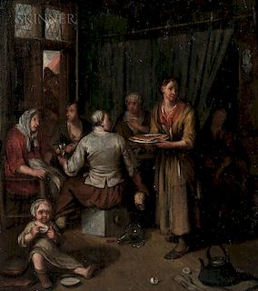 Dutch School, 17th/18th Century  Women Gathered at a Table