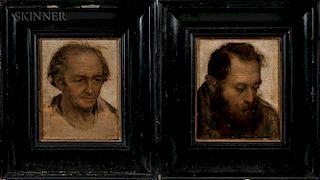 French School, 19th Century  Two Portraits of Gentlemen