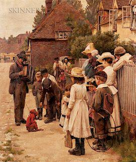 Edward King (British, 1862-1951)  Strolling Musician