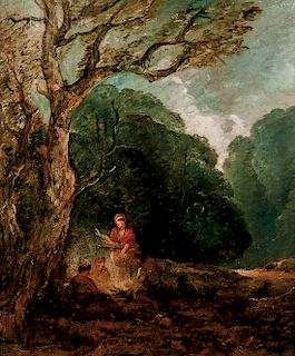 Attributed to Thomas Gainsborough (British, 1727-1788)  The Campfire