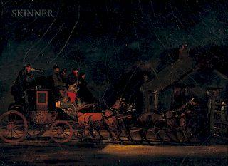 Attributed to Samuel Henry Alken (British, 1810-1894)  Four Coaching Scenes