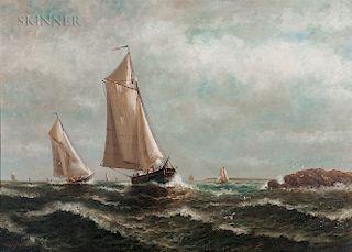 Wesley Elbridge Webber (American, 1841-1914)  Coming into Port