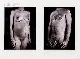 Chuck Close (American, b. 1940)    Untitled Diptych from the Portfolio Doctors of the World