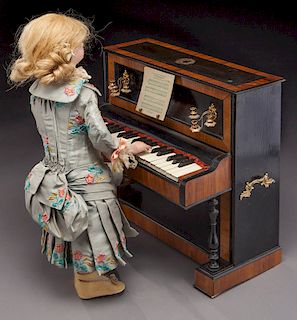 """French automaton """"Lady at the Piano"""","""