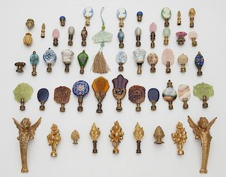 Collection of (48) lamp finials,